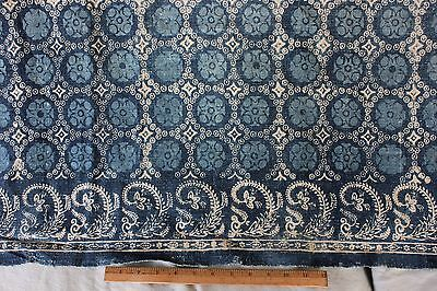 Rare Antique 18thC French Indigo Block Printed & Resist Dyed Indigo Linen c1770s