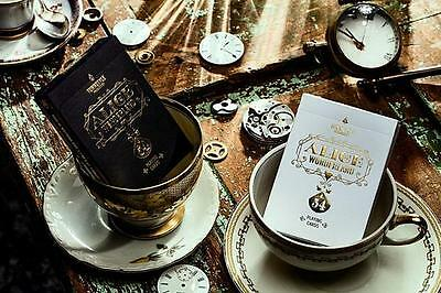 Alice in Wonderland Deck - Black - Cardistry Edition - Playing Cards - New