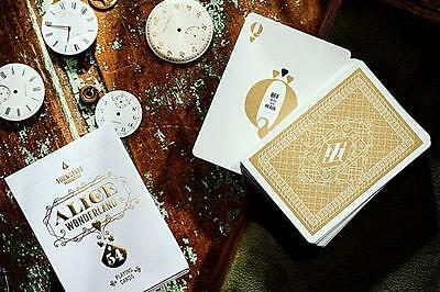 Alice in Wonderland Deck - Gold - Players Edition - Playing Cards - New