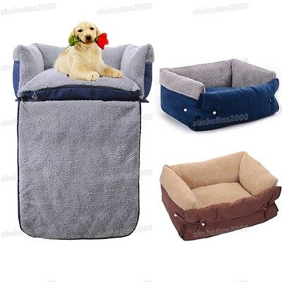 Pet Dog Cat Soft Washable Warm Cushion Sofa Chair Pet Basket Bed Mat Blanket UK