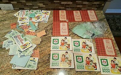 lot Vintage Macdonald Plaid Stamps Saver Books grocery store A&P quick saver