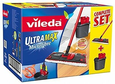 Vileda Ultramax Flat Mop And Bucket Set HOUSE WORK CLEANING NEW P and P
