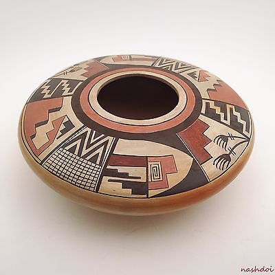 Hopi Seed Pot, Hand Built, Hand Painted