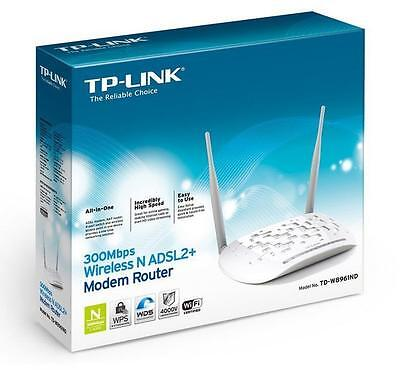 TP-LINK MODEM ROUTER ADSL2+ WIRELESS N 300Mbps TD-W8961N WPS ITALIA NUOVO