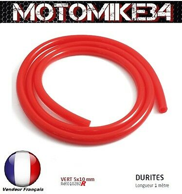 DURITE BENZINA 5X10mm MOTO / SCOOTER / CROSS NUOVO / COLORE ROSSO