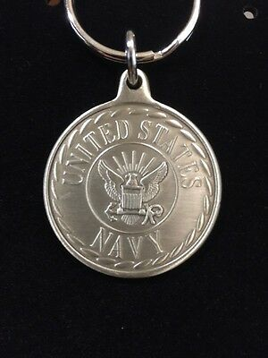 United States Navy Keychain Medallion Coin USA Heavy CRT