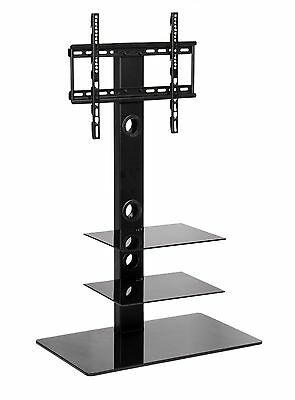 MMT Black Glass TV Stand with mount for 32 inch to 50 inch LCD LED Flat Screens