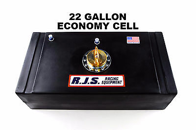 Rjs Racing 22 Gallon Long Economy Fuel Cell Circle Track Imsa Scca Black 3012101