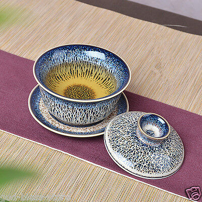 Kiln change porcelain gaiwan Chinese novelty tureen ceramic sauer lid Jingdezhen