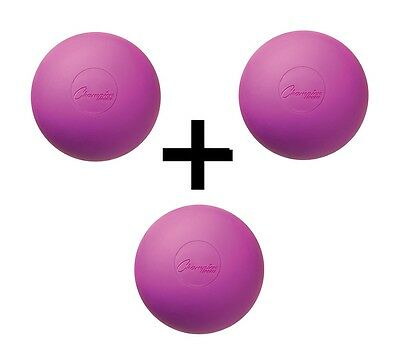 Champion Sports NCAA/NFHS Official Size Rubber Lacrosse Ball, Purple (3-Pack)