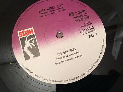 """BAR KAYS - HOLY GHOST - 1979 STAX 12"""" SINGLE EX Funk"""