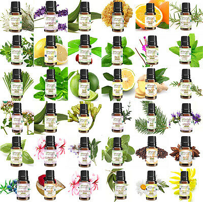 Certified Organic Essential Oil 10 ML 100% Pure Natural Therapeutic by Plantasia