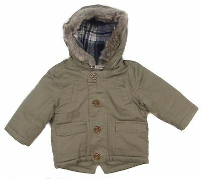 Baby Boys baby Parka Jacket Winter Coat Lined Padded Warm 3-6M up to 18-24M