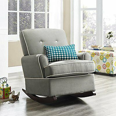 Baby Relax Tinsley Nursery Rocker Chair, Gray New
