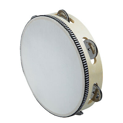 """8"""" Musical Tambourine Drum Round Percussion Gift for KTV Party F6"""