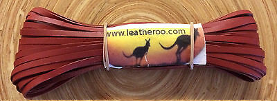"Kangaroo Lace ROAN-TAN Kangaroo Leather Lacing (3.0mm 1/8"") 10 meter hank NEW"