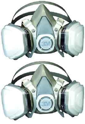 Mask 3M Paint Spray Resp Gas Dust Oil Particulate Respirator Solvent Safe Medium