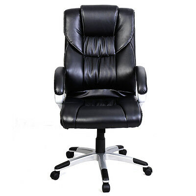 High Back Office Chair PU Leather Executive Task Ergonomic for Computer Desk New