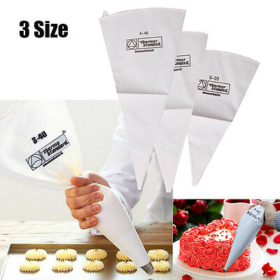 New Reusable Cotton Icing Piping Pastry Bag Cake Cream Decorating Bags 3 Sizes