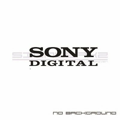 Sony digital decals stickers car audio car window stickers pair