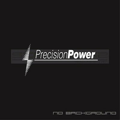 Precision power decals stickers car audio car window stickers pair