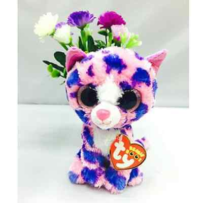"6"" Ty Beanie Boos Big Eyes Plush Stuffed Animals Doll Pink Kitty Cat Kids Gift"