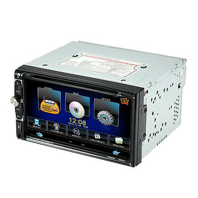 """7"""" Double 2 Din Car Stereo CD DVD Player Bluetooth Radio TV Aux In +Rear Camera"""