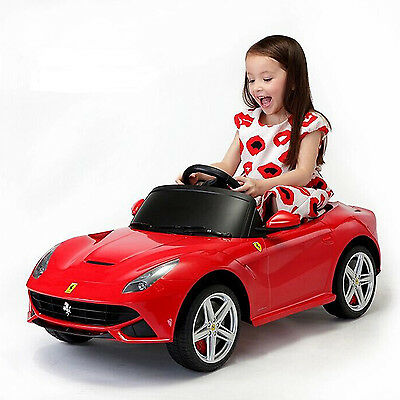 Licensed Ferrari F12 Kids 6V Electric Ride on Toy Car Battery Powered Xmas Gift