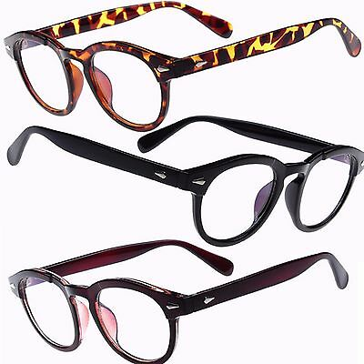 Oval Round Clear Lens Fashion Glasses Optical Frame  Womens Mens