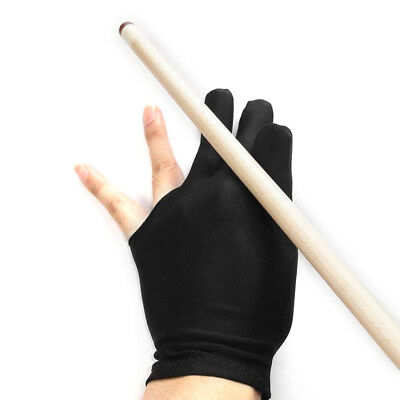 1pcs 3 Finger Pool Shooters Billiard Glove -- Black