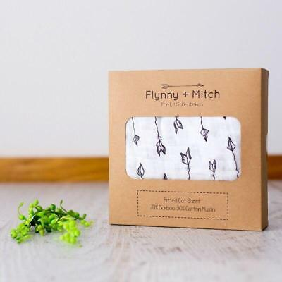 Flynny & Mitch Arrow Cot Fitted Sheet