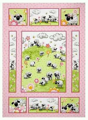 Lal The Lamb Quilt Panel * New * Susybee *  Gorgeous * Free Post