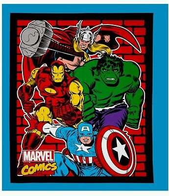 Avengers Quilt Panel * New * In Stock * Free Post *