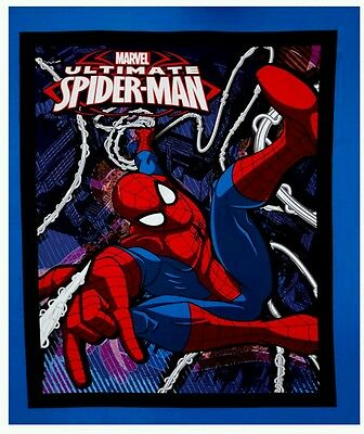 Spiderman Quilt Panel * New * In Stock * Free Post *