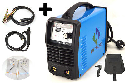HITBOX 110V 100amp IGBT inverter ARC MMA stick welder with clamp electrode glove