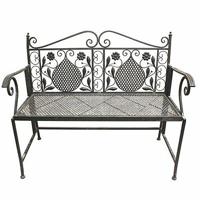 2 sitzer gartenbank metall roma 120cm sitzbank parkbank eisen garten metallbank eur 144 95. Black Bedroom Furniture Sets. Home Design Ideas