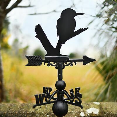 Hand Made Cast Iron and Steel Kingfisher Design Wall Mounted Weathervane