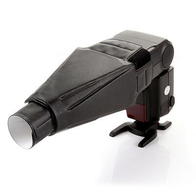 Plegable Difusor De Flash Softbox Snoot Haz Tubo fr Canon Nikon Yongnuo