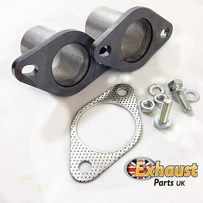 "63.5mm 2.5"" Exhaust Flanges Repair Joint with Gasket + Bolts Tube Repair Section"