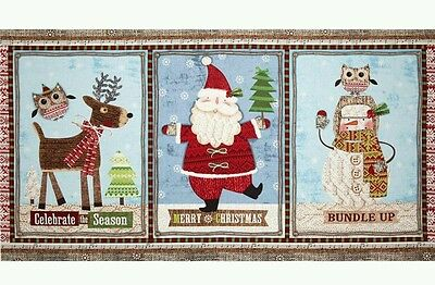 Bundle Up For Christmas Panel. ..New...free Post.....in Stock. .