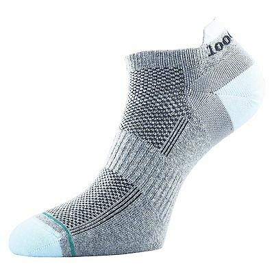 1000 Mile DOUBLE LAYER Trainer Liner Sock Blue/Grey - Ladies Small (3-5.5)