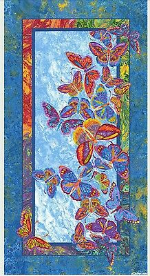 Marblehead Butterflies Are Free Quilt Panel * In Stock * Free Post *