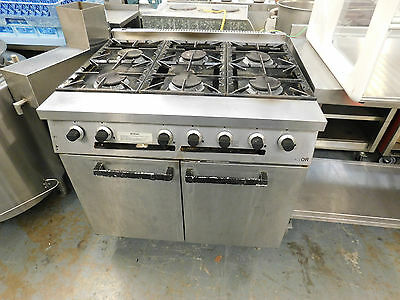 Falcon Dominator 6 Burner Nat Gas Commercial Catering Oven on Feet