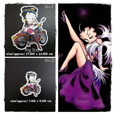Betty Boop Sticker Vinyl Decal Car Window Bumper Logo Cartoon Character Tablet