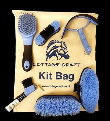 NEW Cottage Craft Complete Child Junior Horse Pony Grooming Starter Set Bag Blue