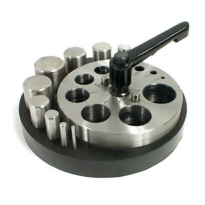 Disc Cutter  - Circle - 10 Punches - Rubber Base - for Jewelry Making - 28-590