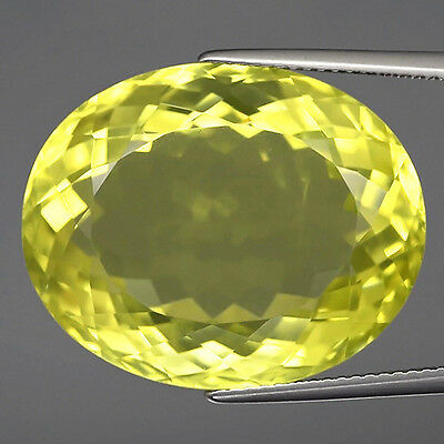 35.47 ct  VVS ! Riesiger ovaler 24 x 19.5 mm Lemon Citrin Quarz
