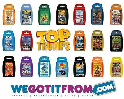 TOP TRUMPS - 50 Varietys Available Ideal Stocking Fillers for Christmas