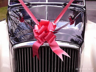 RED  Wedding Car Decoration Kit 1 Large Bow & 7 Metres of Ribbon FAST AND FREE