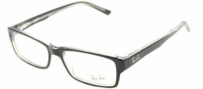 Ray Ban Eyeglasses RX5169 2034 Black Transparent Plastic Frame 52mm